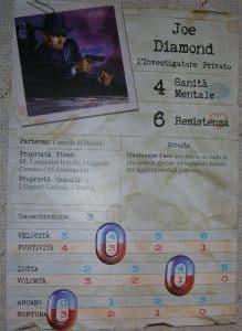 Arkham Horror - scheda personaggio