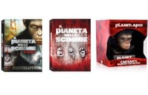 Blu Ray e DVD, cofanetti del Pianeta delle Scimmie: Apes revolution