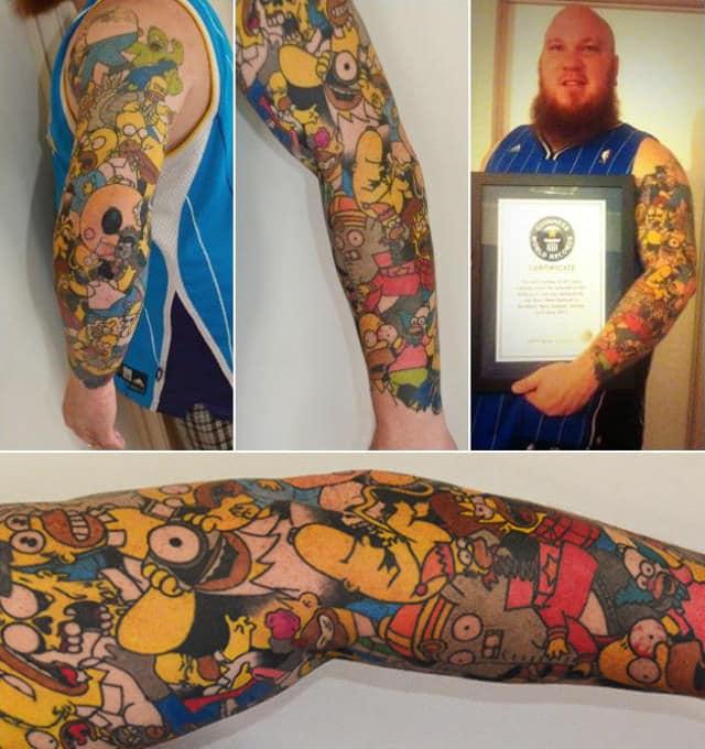 Il Tizio Con 203 Tatuaggi Dei Simpson Vs Quello 41